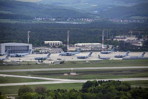 Overview of the Air Mobility Command Ramp at Ramstein Air Base, Germany Photographic Print