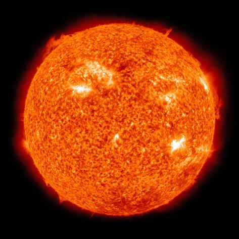 Solar Activity on the Sun Photographic Print