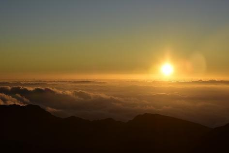 Sunrise over Haleakala Crater in Maui, Hawaii Photographic Print