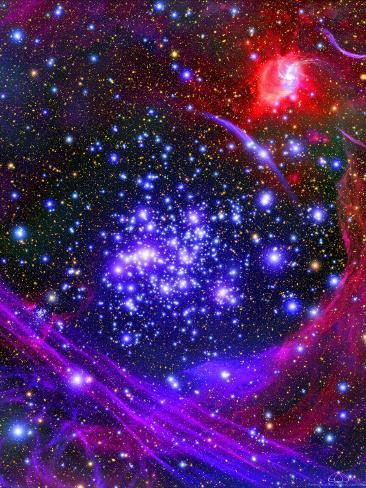 The Arches Star Cluster from Deep Inside the Hub of Our Milky Way Galaxy Photographic Print