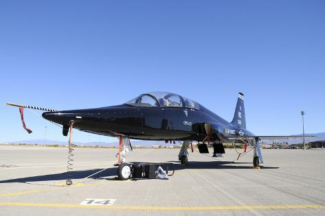 U.S. Air Force T-38 Talon at Holloman Air Force Base, New Mexico Stampa fotografica