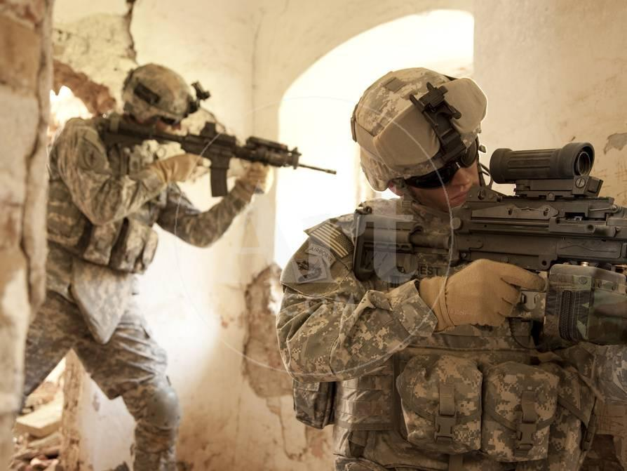 U S  Army Rangers in Afghanistan Combat Scene