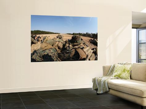 U.S. Marines Participate in a known Distance Sniper Training Course Wall Mural
