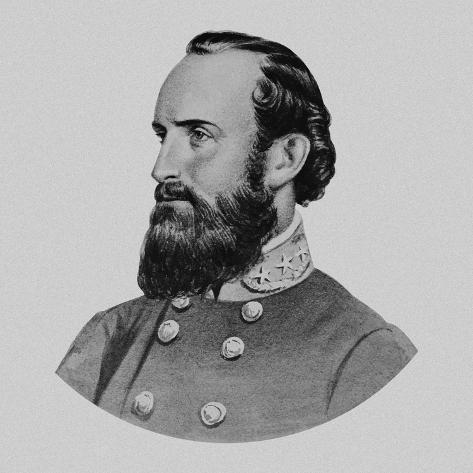 Vector Portrait of General Thomas Stonewall Jackson Photographic Print