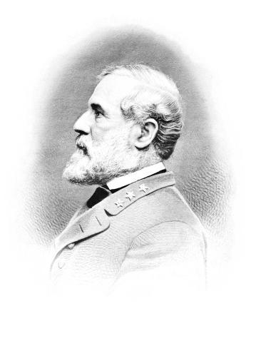 Vintage Civil War Print of General Robert E. Lee Photographic Print