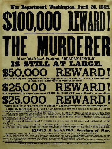 Vintage Civil War Wanted Poster Photographic Print