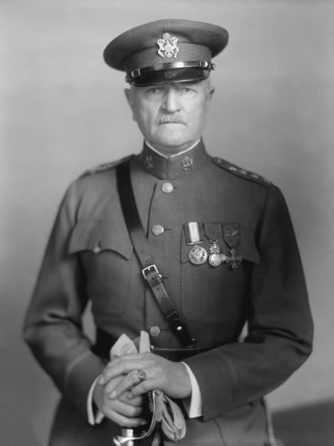 Vintage World War One Photo of General John J. Pershing Photographic Print