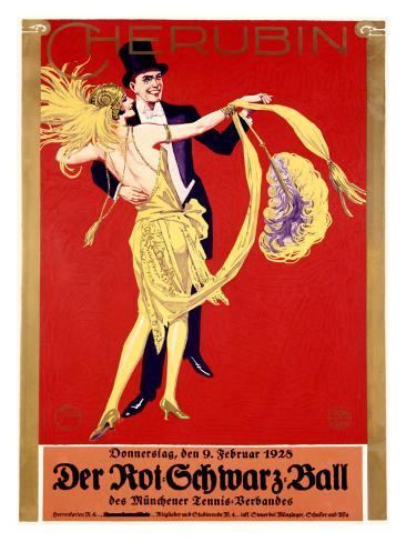 Der Rot Schwartz Ball Giclee Print