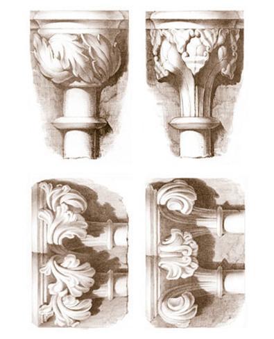 Stone Capitals Art Print