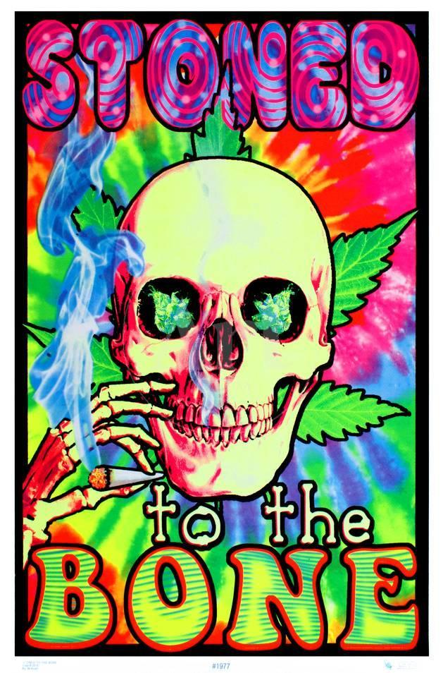 Stoned To The Bone Blacklight Poster Photo At AllPosters