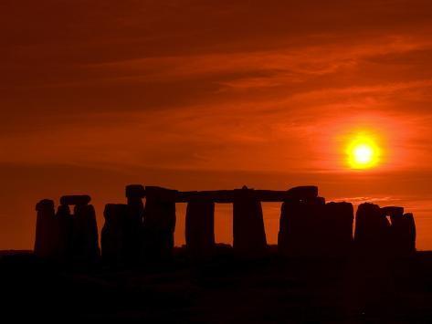 Stonehenge, UNESCO World Heritage Site, Wiltshire, England, United Kingdom, Europe Photographic Print