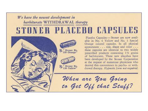 Stoner Placebo Capsules Art Print