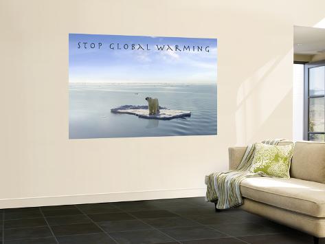 Stop Global Warming Wall Mural