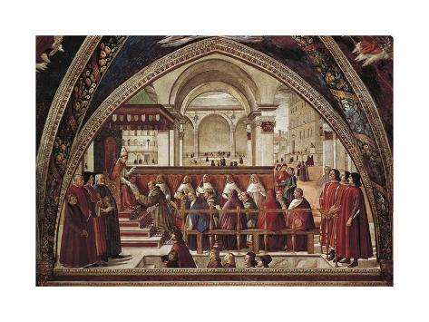 Stories of St Francis of Assisi, 1483-1486 Giclee Print