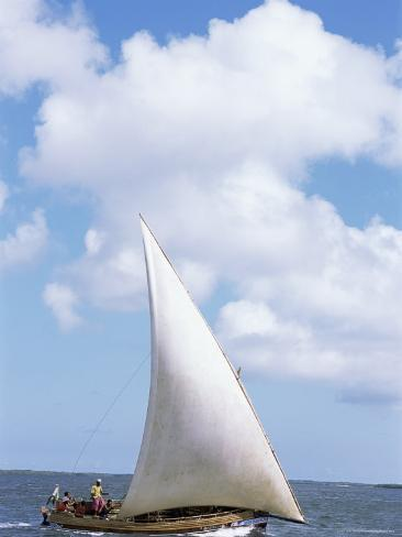 dhow in the indian ocean lamu island kenya east africa africa