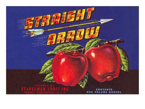 Straight Arrow Apple Crate Label Taidevedos
