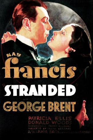 Stranded, US poster art, George Brent, Kay Francis, 1935 Art Print