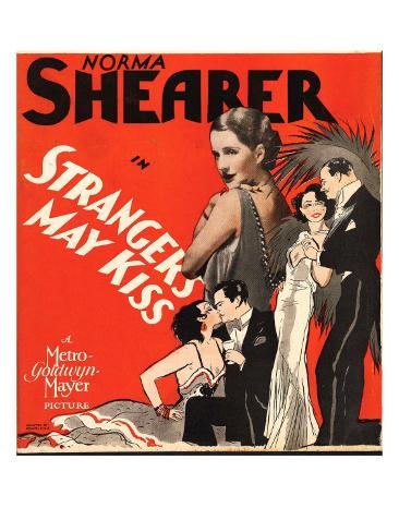 Strangers May Kiss, Norma Shearer on Window Card, 1931 Photo