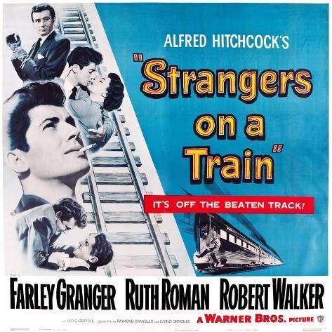 Strangers on a Train, 1951 Lámina giclée prémium
