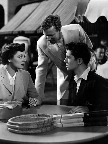 Strangers on a Train, Ruth Roman, Farley Granger, 1951 Photo