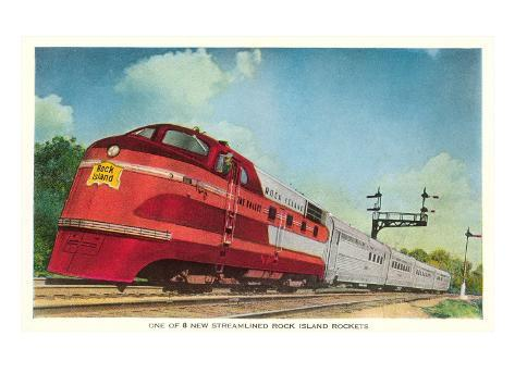 Streamliner, Rock Island Rocket Art Print
