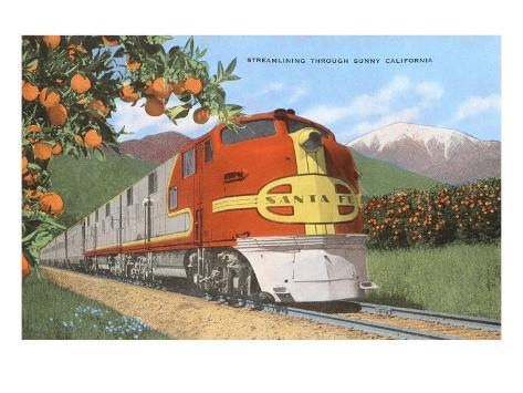 Streamlining through California, Oranges Taidevedos