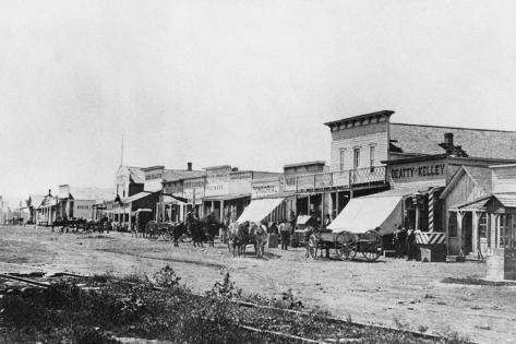 Street of Early Dodge City Photographic Print