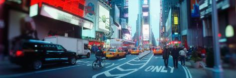 Street Scene at Dusk, Times Square, Manhattan, New York City, New York State, USA Stretched Canvas Print
