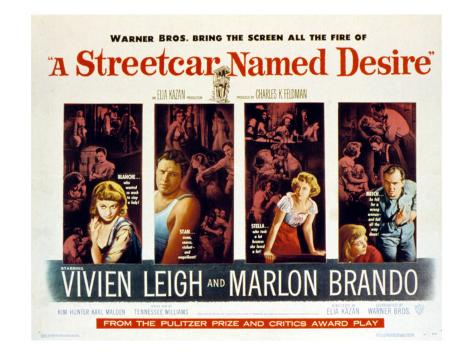 Streetcar Named Desire, Vivien Leigh, Marlon Brando, Kim Hunter, Karl Malden, 1951 Photo