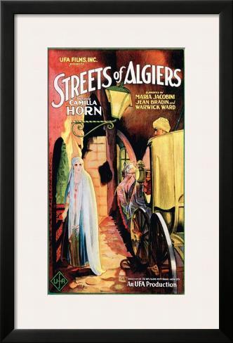 Streets Of Algiers - 1928 Impressão giclée emoldurada