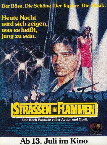 Streets of Fire - German Style Poster