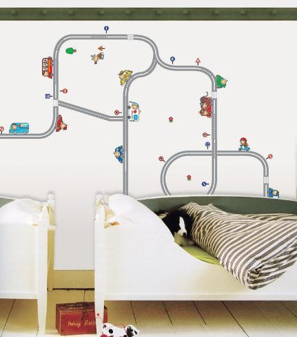 Streetways and Cars Wall Decal