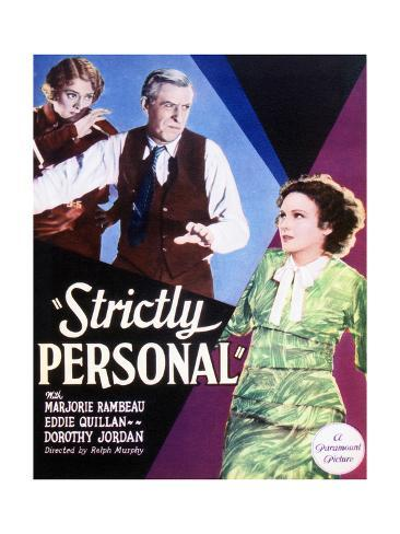 Strictly Personal - Movie Poster Reproduction Art Print