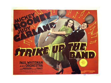 Strike Up the Band - Lobby Card Reproduction Stampa artistica