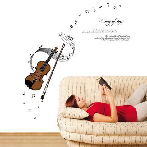 Strumming Violin A Song of Joys Wall Decal