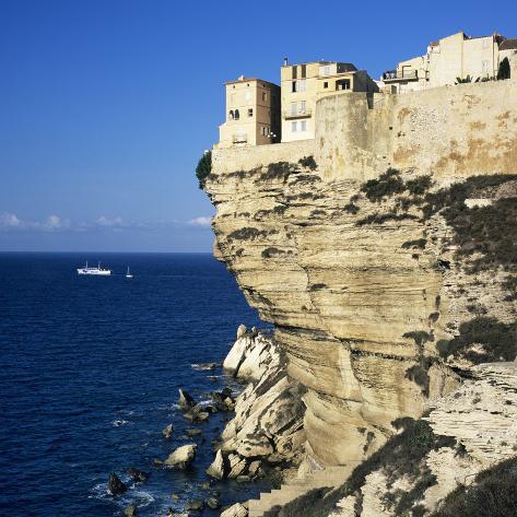 Haute Ville on Cliff Edge, Bonifacio, South Corsica, Corsica, France, Mediterranean, Europe Photographic Print