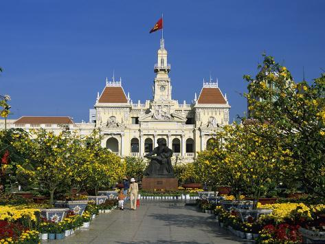 Hotel De Ville (Ho Chi Minh City Hall) Decorated for Chinese New Year, Ho Chi Minh City (Saigon), V Photographic Print