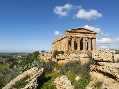 Tempio Di Concordia (Concord), Valle Dei Templi, UNESCO World Heritage Site, Agrigento, Sicily, Ita Photographic Print