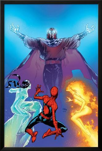 Ultimate Spider Man No119 Cover Firestar Iceman And Magneto