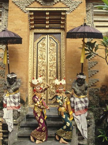 Balinese Legong Dancers, Indonesia Photographic Print