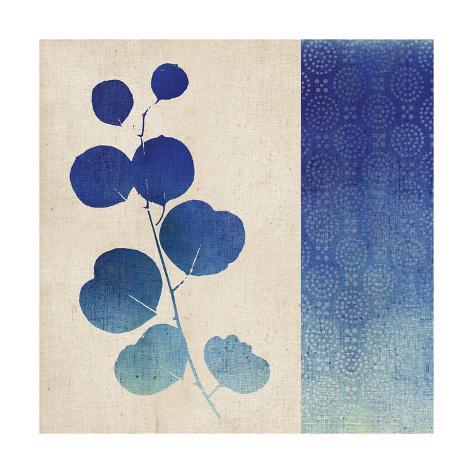 Indigo Leaves II Art Print