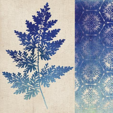 Indigo Leaves III Art Print