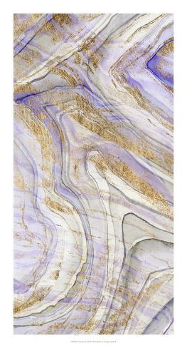 Amethyst & Gold I Art Print
