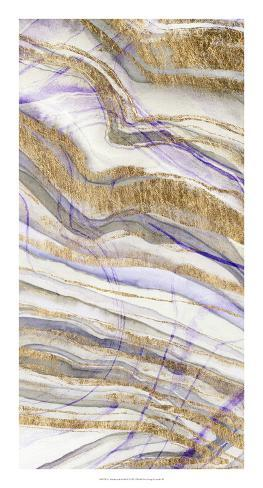 Amethyst & Gold II Art Print