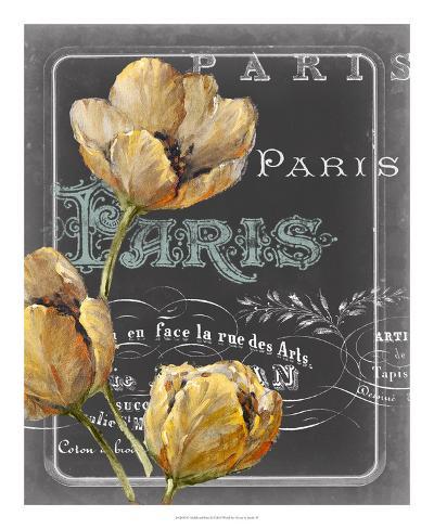 Chalkboard Paris II Stampa artistica