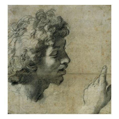 Study for the Head and Hand of an Apostle by Raphael Stretched Canvas Print