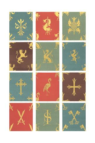 Stylized Crest Decoration Illustrations Art Print