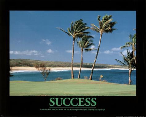Success (Golf) Art Poster Print Mini Poster