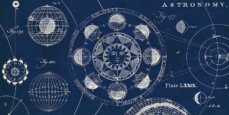 Blueprint Astronomy Art Print