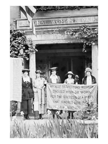 Suffragettes Displeased over Women's Party Platform Art Print